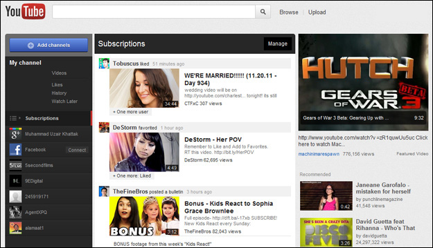 new-youtube-layout How to get the New Look YouTube Design